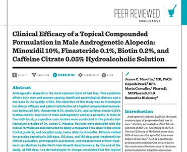 Clinical Efficacy of a Topical Compounded Formulation in Male Androgenetic Alopecia