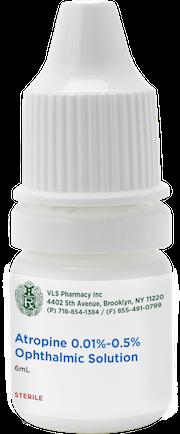 Atropine (PF) 0.01%-0.5% Sterile Ophthalmic Solution 6mL