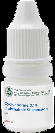 Cyclosporine 0.1% Sterile Ophthalmic Solution 5mL