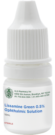 Lissamine Green 0.5% Sterile Ophthalmic Solution 10mL