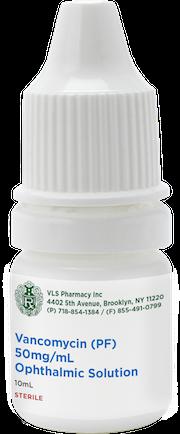 Vancomycin (PF) 50/mg/mL Sterile Ophthalmic Solution 10mL
