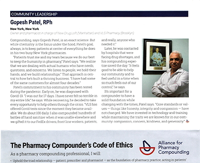 Gopesh Patel Featured for Community Leadership in Ethics